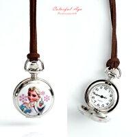 兒童節禮物Children's Day到迪士尼兒童錶 冰雪奇緣懷錶 【NE1952】柒彩年代