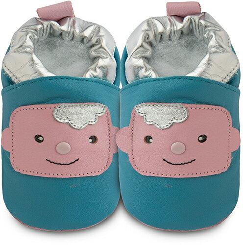 【HELLA 媽咪寶貝】英國 shooshoos 健康無毒真皮手工鞋/學步鞋/嬰兒鞋_可愛嬰兒_102842(公司貨)