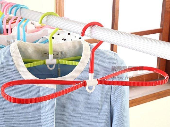 約翰家庭百貨》【BE010】5入 彩色旋轉立體快速曬衣架 多功能防滑晾衣架 絲巾領帶曬鞋架 隨機出貨 換季收納
