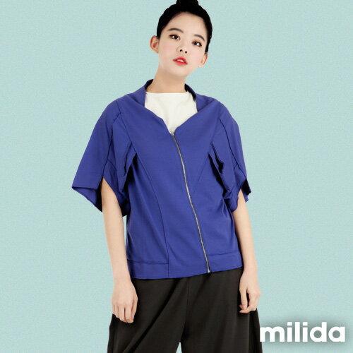【Milida,全店七折免運】-早春商品-外套款-五分袖短版設計 5