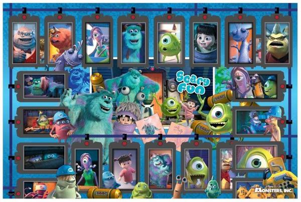 P2拼圖網:MonstersInc怪獸電力公司(1)拼圖1000片