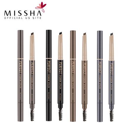 韓國 MISSHA 完美 旋轉眉筆.35g 多色 雙頭 眉刷 眉筆~B061550~