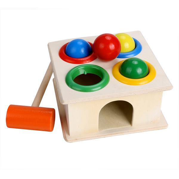 Children Early Education Interest Multi-color Small Hit Ball Box Toys 0