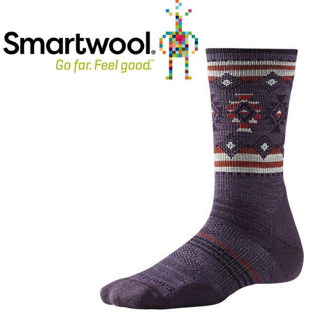 Smartwool 羊毛襪/雪襪/排汗襪/保暖襪/美麗諾羊毛/女款PhD戶外輕量減震印花中長襪 SW001312 284沙漠紫