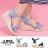 【AS531】一字 / 交叉帶涼鞋 時尚牛仔布材質 8CM楔型增高 舒適防水台 2色 1