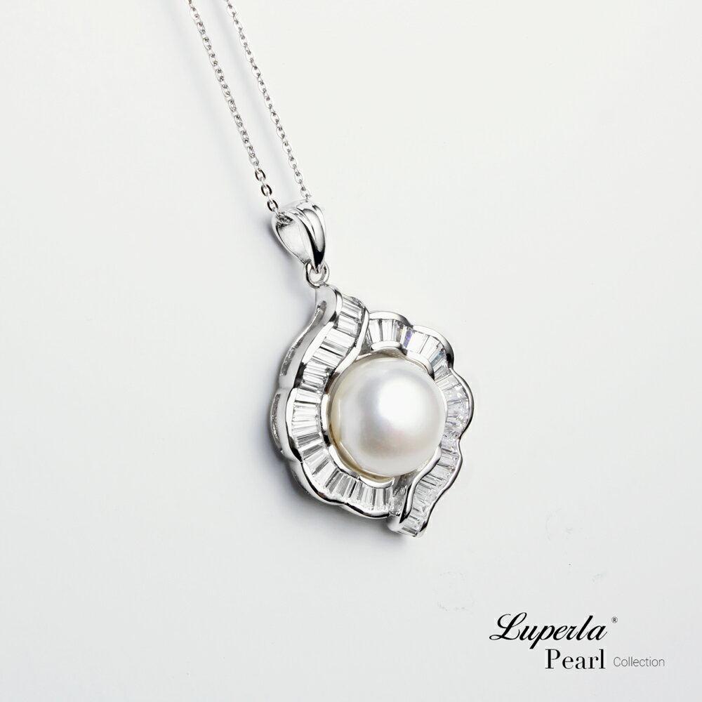 大東山珠寶  永恆典範  天然珍珠925銀項鍊 2