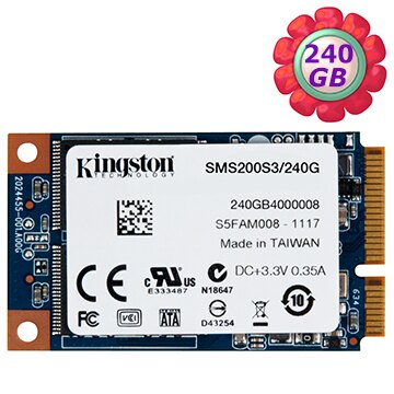 Kingston SSD 240GB MS200 mSATA【SMS200S3/240G】SATA 6Gb/s 固態硬碟
