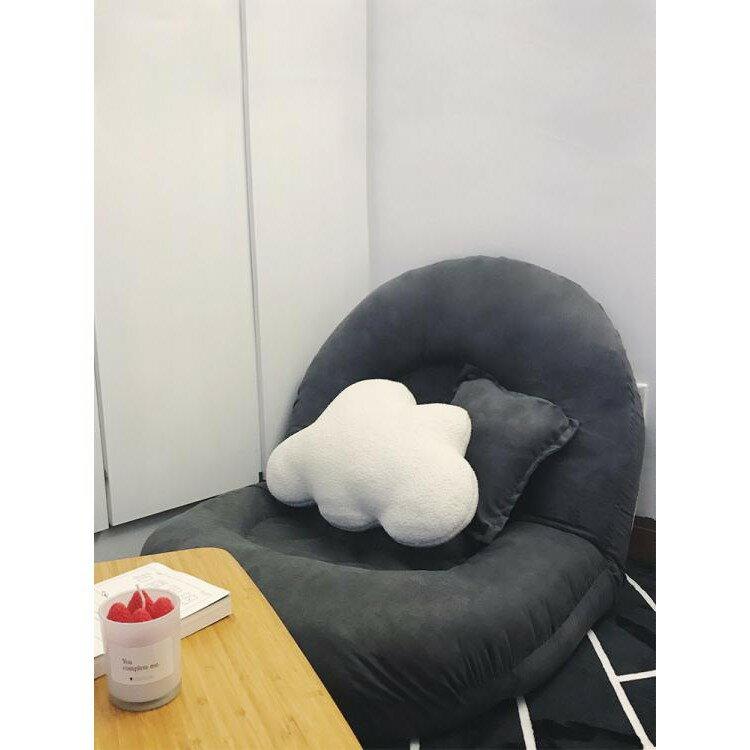 懶人沙發榻榻米椅子單人臥室小沙發床上靠背椅摺疊沙發陽台飄窗椅 ATF