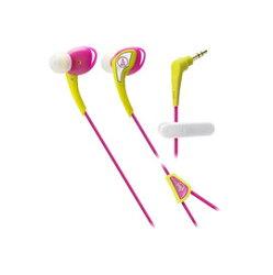 鐵三角 audio-technica ATH-SPORT2 黃粉紅 運動型耳塞式耳機 (鐵三角公司貨)
