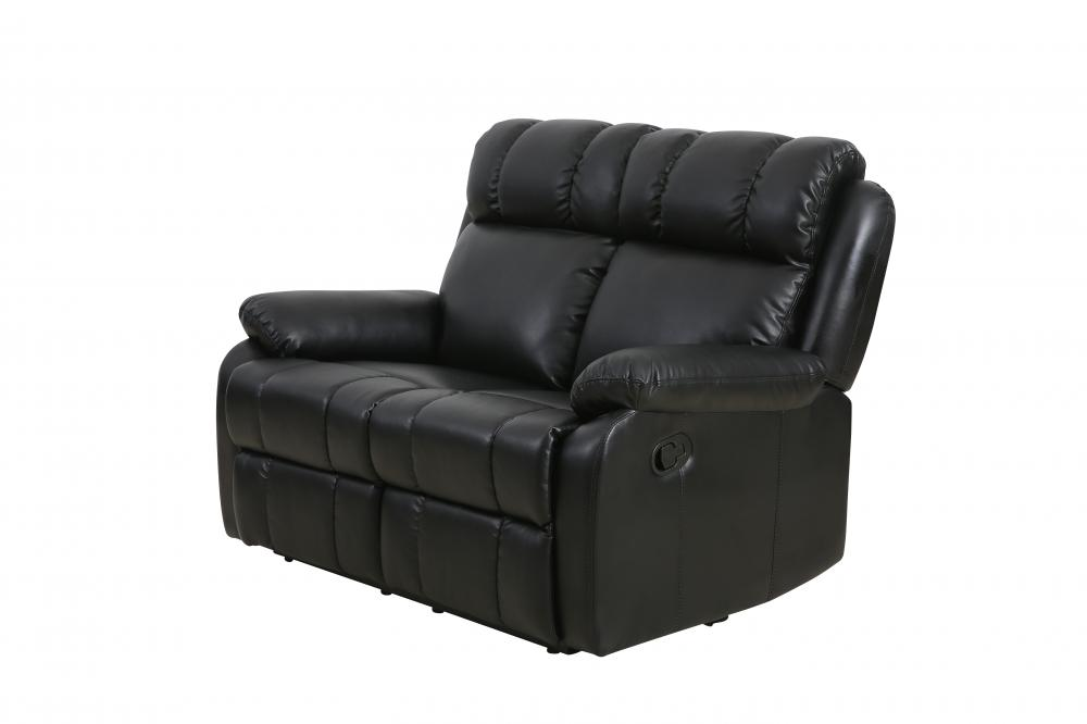 Clic Double Reclining Loveseat Leather Living Room Furniture Recliner Sofa 0