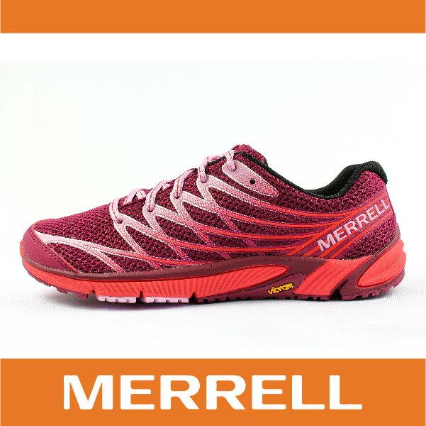 【零碼75折】萬特戶外運動 MERRELL 35842 BARE ACCESS 4 女越野訓練跑鞋 赤足鞋 慢跑 抗菌 防臭 桃紅色