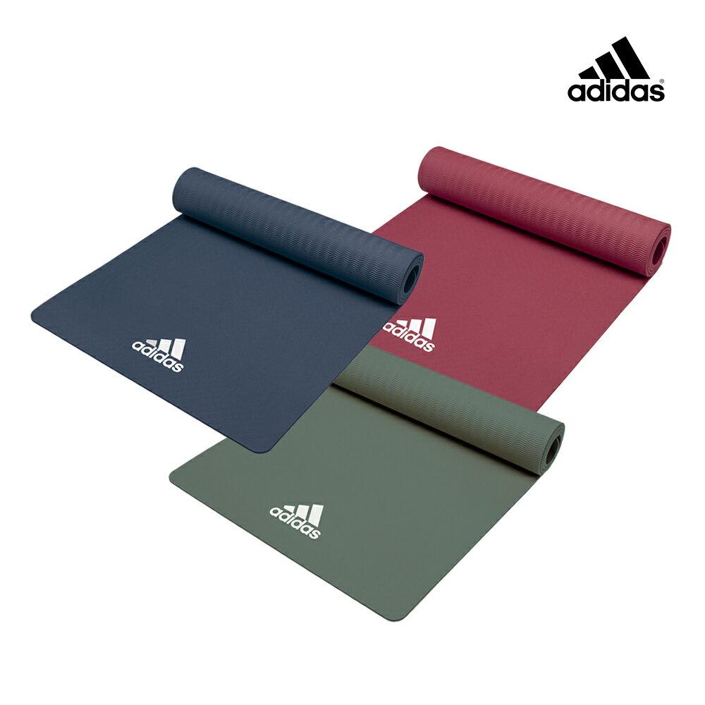 【Adidas愛迪達】輕量波紋瑜珈墊-8mm(共兩色) 0
