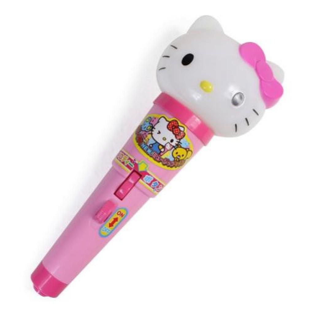 大賀屋 HellloKitty 麥克風 唱歌 兒童 玩具 頭型 KT 凱蒂貓 三麗鷗 日貨 正版 授權 T00110200
