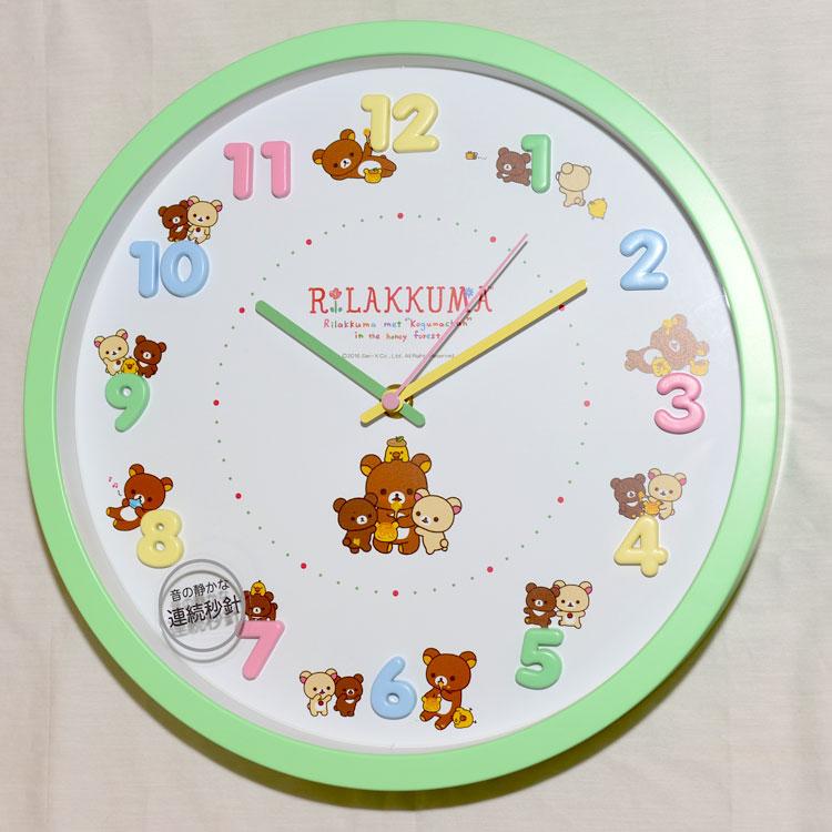 拉拉熊 懶懶熊 時鐘 掛鐘 靜音 日本帶回正版商品