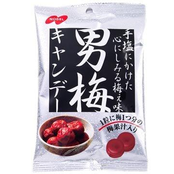 有樂町進口食品 日本諾貝爾男梅汁糖(80g)~ 男梅糖 優質搶手糖果 4902124680204 - 限時優惠好康折扣