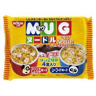 有樂町進口食品 日清 MUG杯仔麵-醬油/海鮮(94g) 4902105016084