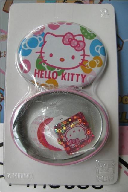 有樂町進口食品 Hello Kitty 鐵盒(付貼紙) 橢圓形