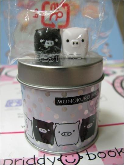 有樂町進口食品 日本黑白磁鐵豬磁鐵罐~2號~