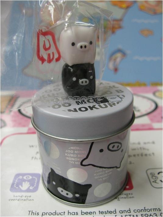 有樂町進口食品 日本黑白磁鐵豬磁鐵罐~7號~ - 限時優惠好康折扣
