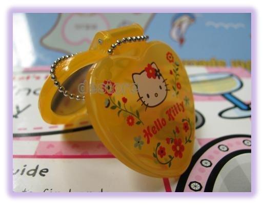 有樂町進口食品 日本授權 Hello Kitty 娃娃鏡子 手機掛飾鑰匙圈 4號