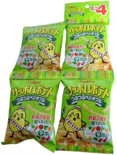 有樂町進口食品 日本 calbee卡樂比4連 薯條 蔬菜 洋芋條 J38 4901330122096 2