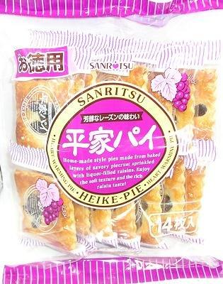 有樂町進口食品 日本三立德用葡萄派乾 葡萄乾 層疊的配派餅 葡萄香氣迷人 0