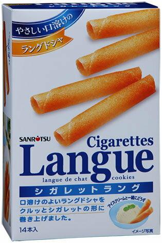 有樂町進口食品 日本 三立奶油薄燒雪茄捲 14入 日式捲餅 蛋捲 4901830352702