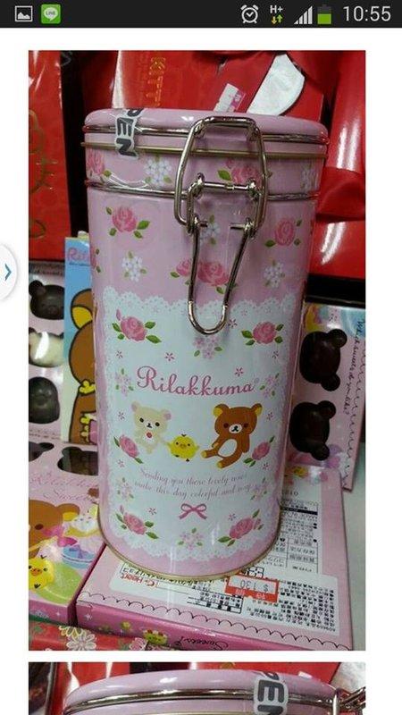 有樂町 食品 拉拉熊玫瑰圓桶 罐 鐵罐收納 保鮮罐 懶懶熊