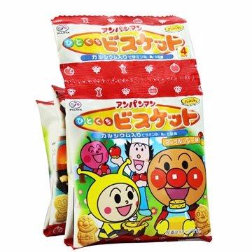 有樂町進口食品 日本 不二家麵包俠四連餅(80g) 麵包超人 1串4包 - 限時優惠好康折扣
