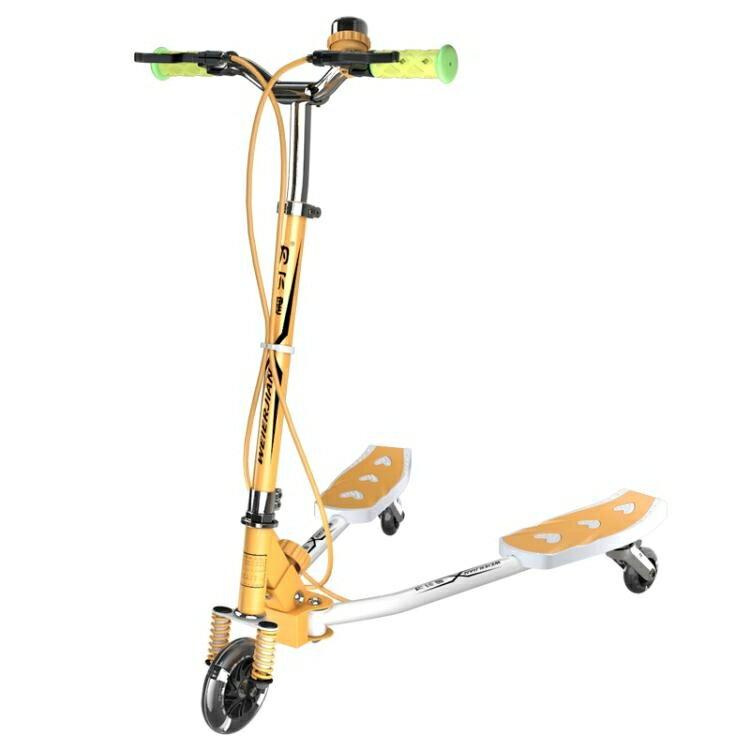 為爾健蛙式滑板車兒童3歲6歲三輪剪刀車閃光搖擺踏板滑滑車3-14歲jy【快速出貨】