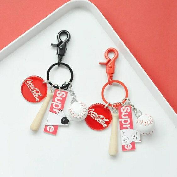 鑰匙圈情侶鑰匙扣簡約掛件小清新鑰匙圈運動風包包掛飾情侶一對鑰匙?女