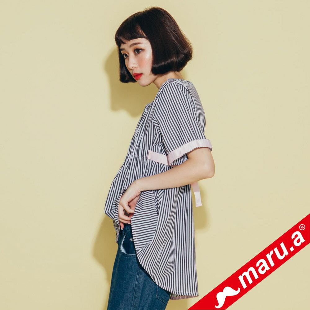 【maru.a】領口挖空舒適上衣(2色)8313112 3