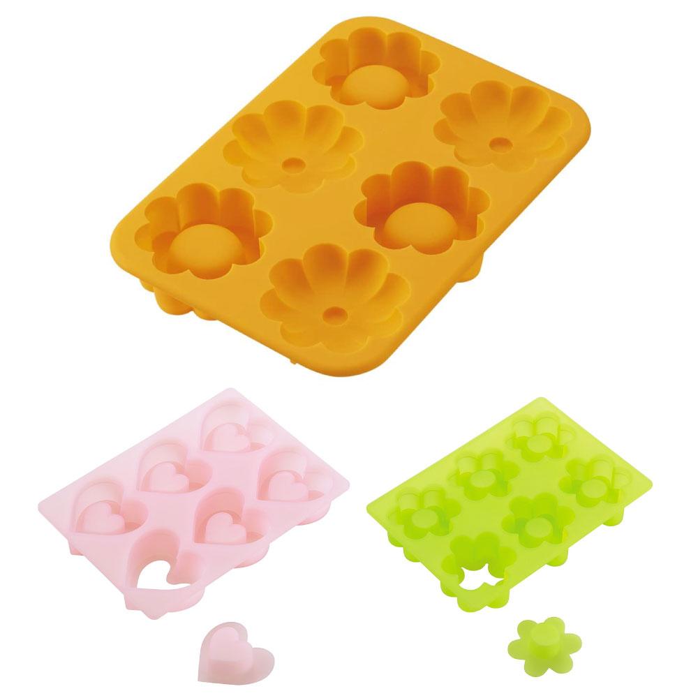日本貝印KAI矽膠立體模具造型壓模耐熱心形花形