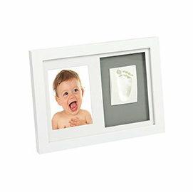 【淘氣寶寶】Adora 珍愛回憶系列 寶寶手足模印相框(壁掛橫列型)