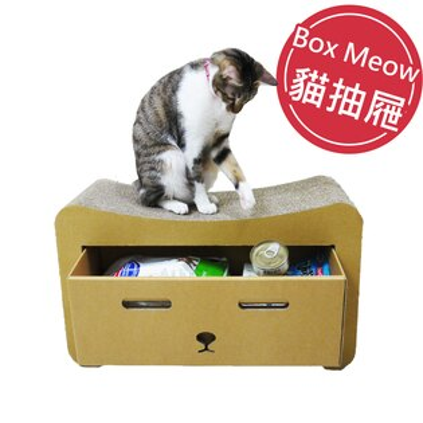 順義號:BoxMeow瓦楞貓抓板貓抽屜送DIY紙球(五入組)