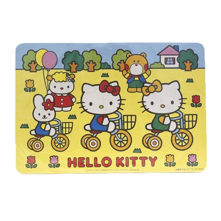 日本製 凱蒂貓 Hello Kitty 餐墊 餐桌墊 隔熱墊 防燙墊 防滑墊 4枚入 日本進口正版 151117