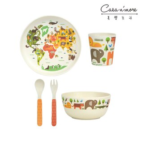 Wild&WolfPetitCollage兒童餐具禮盒5件組小世界