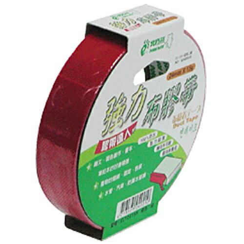 【北極熊】強力布膠帶/布紋膠帶/布質膠帶 CLT2415R (紅色) 24mm×15y