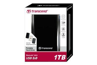 Transcend創見 StoreJet 25D3 (USB 3.0) 1TB外接硬碟 2.5吋行動硬碟