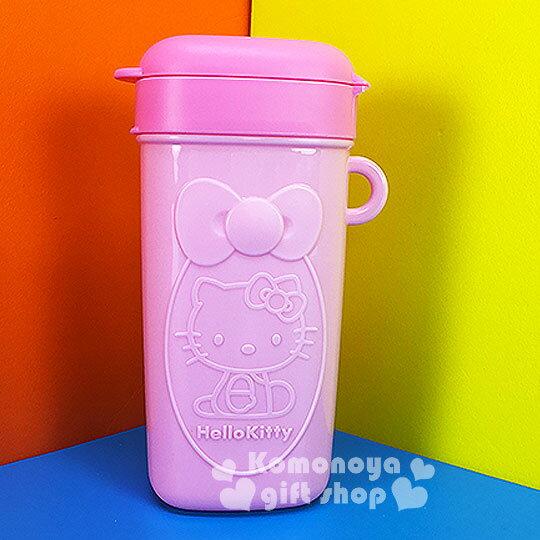 〔小禮堂〕Hello Kitty 零食盒《粉.側坐.蝴蝶結》方便隨身攜帶