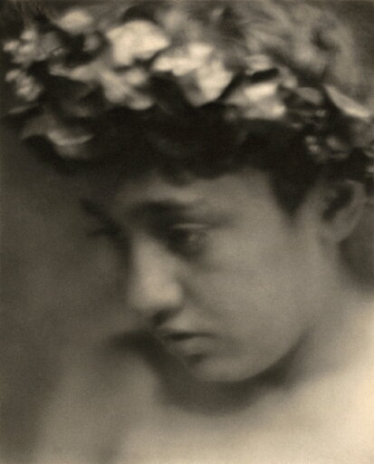 Day Nude With Laurels Nportrait Of A Nude Boy Wearing A Laurel Wreath Photograph By F Holland Day C1905 Rolled Canvas Art - (18 x 24) 5210be01e3bc1ac46d91ad0806536c36