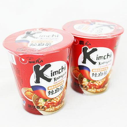 【敵富朗超巿】農心韓國泡菜味杯麵 75g 賞味期限:2018.04.28