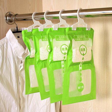 可掛式衣櫃除濕袋 120g 防潮 吸濕袋 室內 除濕劑 房間 防黴 除濕盒 乾燥劑【N102255】