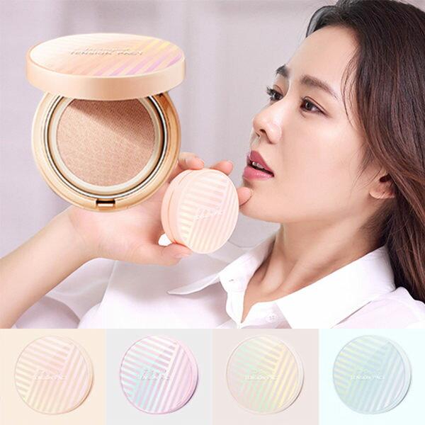韓國MISSHA超服貼水光肌網狀氣墊粉餅橘色遮瑕款(14g)【庫奇小舖】