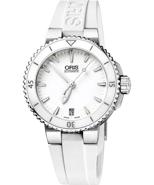 ORIS 豪利時 0173376524156-0741831時間之海專業潛水腕錶/白面36mm