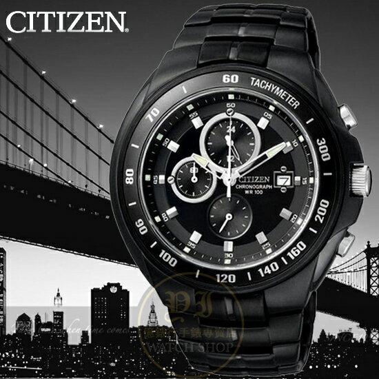 CITIZEN日本星辰Chronograph極限競速計時腕錶AN4019-52E公司貨/金城武