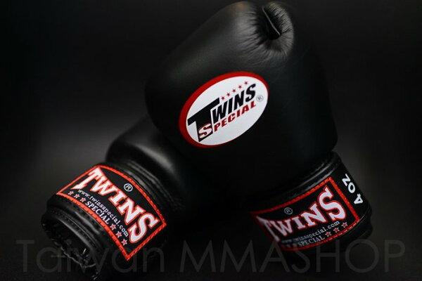[古川小夫]小手專區MMA黑色手工真皮拳擊手套~拳擊名牌TWINS4oz拳擊手套~TWINS真皮拳套4oz