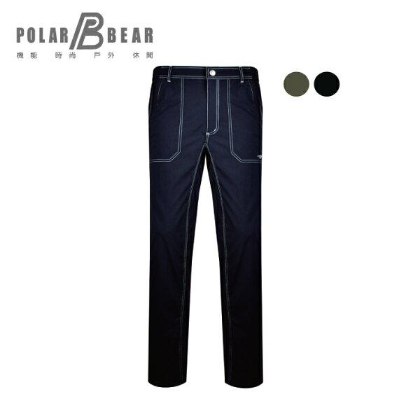 【POLARBEAR】男輕薄抗UV吸濕排汗彈性腰鬆緊長褲