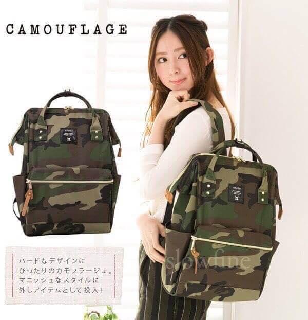【日本anello】ANELLO 雙肩後背包 《大號》- 綠迷彩 1