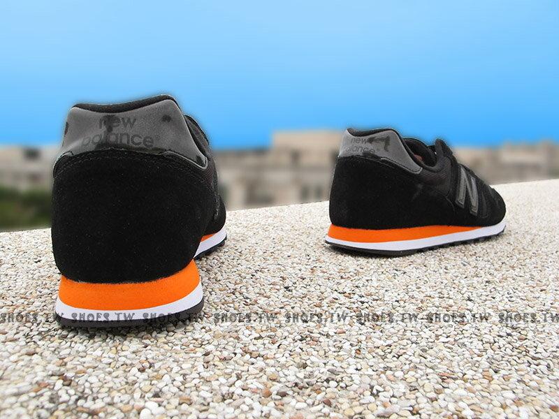 《下殺6折》Shoestw【ML373MB】NEW BALANCE NB373 復古慢跑鞋 黑 橘邊 麂皮 男款 2